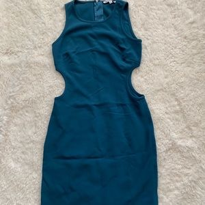 Elizabeth and James Size 4 Teal Cut Out Dress